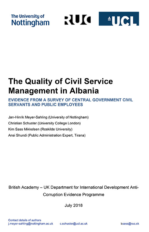 Phase 1 Albania report cover