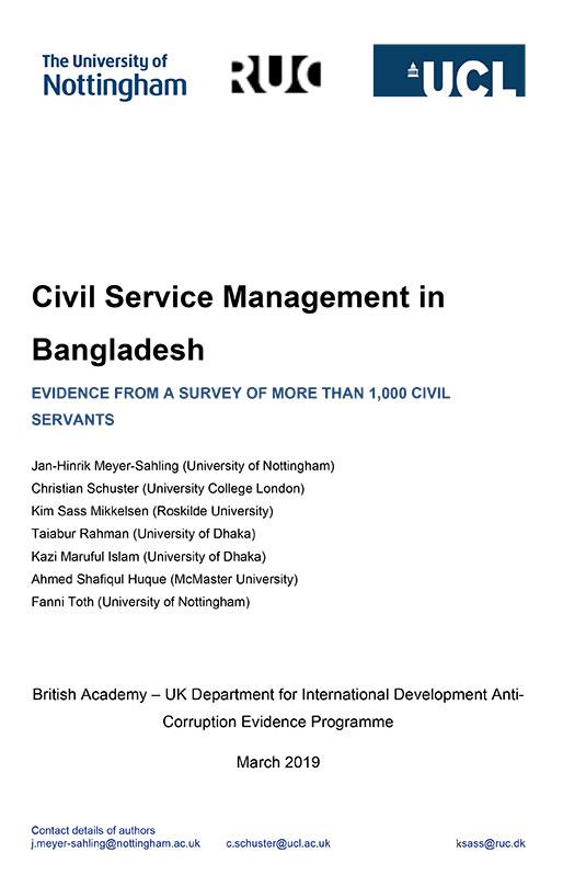 Phase 1 Bangladesh report cover