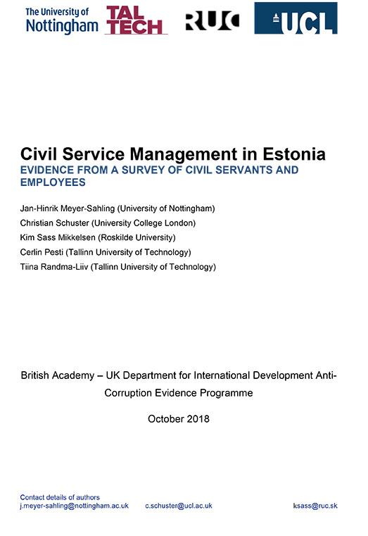 Phase 1 Estonia report cover
