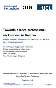 Phase 1 Kosovo report cover