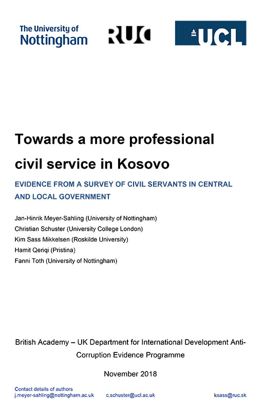 Phase 1 Kosovo report cover