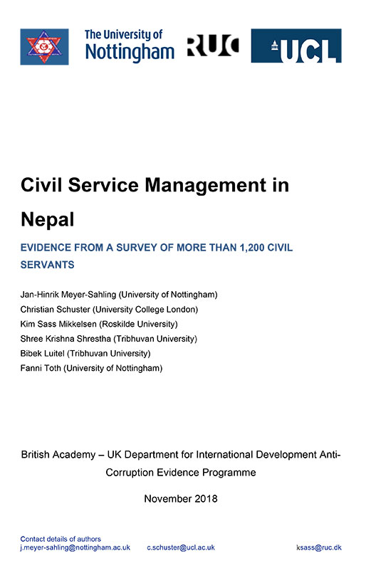 Phase 1 Nepal report cover