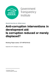 anti-corruption intervention working paper cover