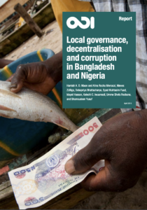 Local governance, decentralisation and anti-corruption in Bangladesh and Nigeria Report Cover