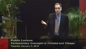 Professor Frederick Stapenhurst giving public lecture