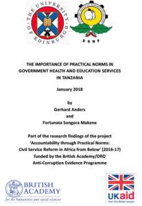 Tanzania report cover