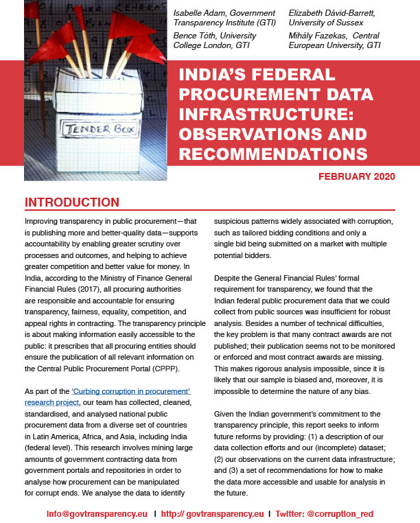 India data report front page